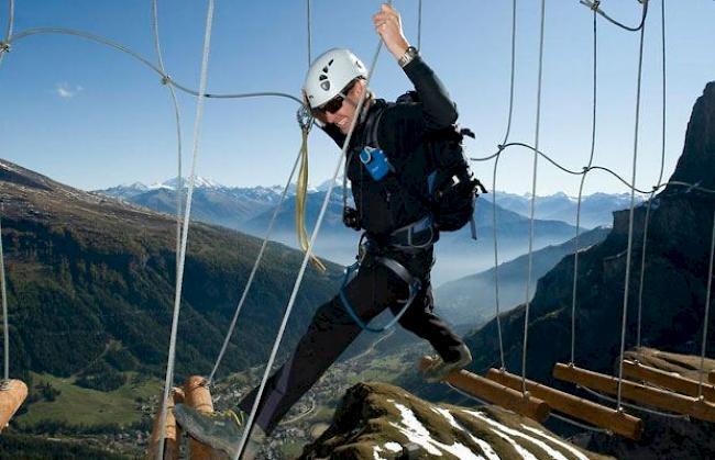 Klettersteig Leukerbad : Der längste klettersteig schweiz leukerbad youtube