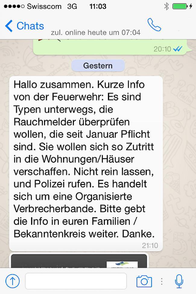 whatsapp nachricht warnung der polizei