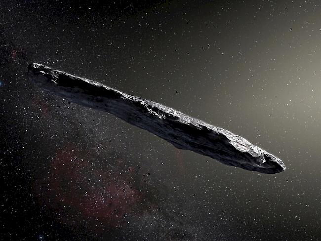 Illustration des Asteroiden Oumuamua (Archiv)