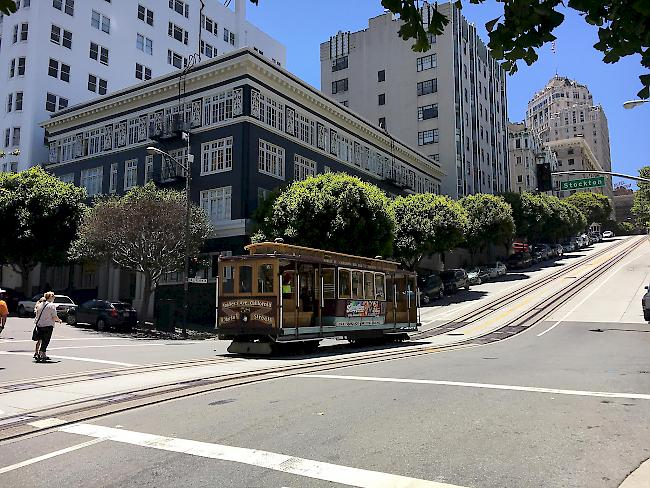 Beliebte Cable Cars in San Francisco