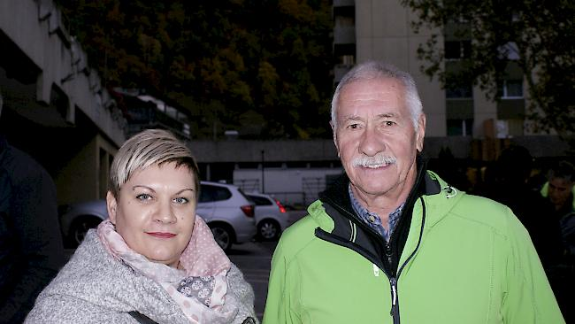 Tanja Mutter (44) und Peter Jossen (69), Naters.